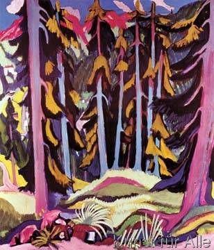 Ernst Ludwig Kirchner - Waldinneres