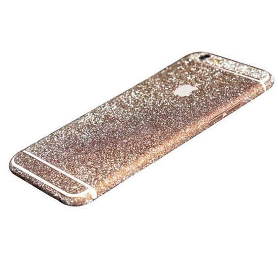 Rose Gold Glittery iPhone 6 Plus / iPhone 6S Plus Full Body Sticker Wrap