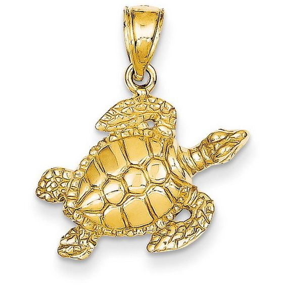 14k Yellow Gold Sea Turtle Pendant ($91) ❤ liked on Polyvore featuring jewelry, pendants, gold, 14 karat gold pendants, 14k gold pendant, gold pendant, 14k yellow gold pendant and gold jewelry