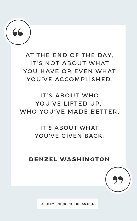 Easy ways to give back to your community + inspirational quotes about giving back including these wise words from Denzel Washington for #dogoodweek sponsored by @dogoodlivewell