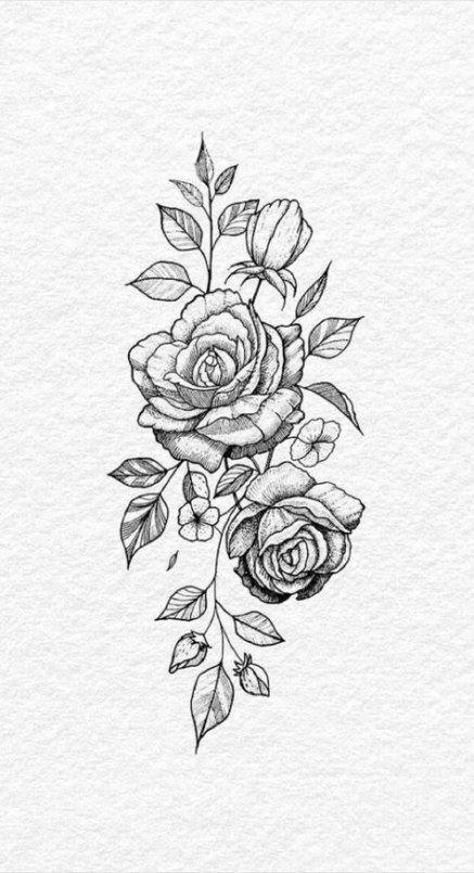 48 Ideas Flowers Drawing Design Ideas Beautiful Tattoos Hip Tattoo Rose Tattoos
