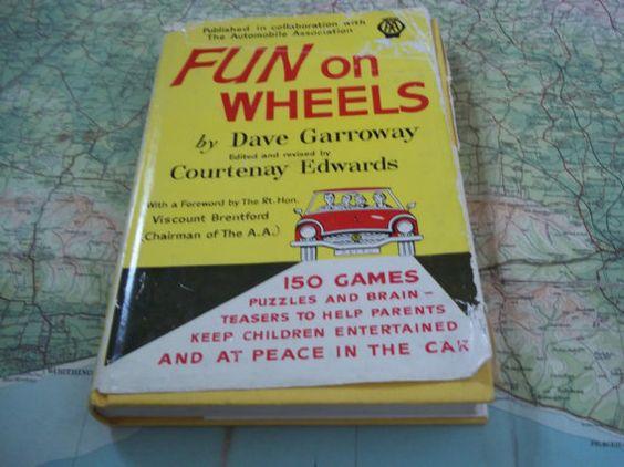 Vintage AA Book  Fun on Wheels  Games for Car by BradshawsEmporium, £1.49