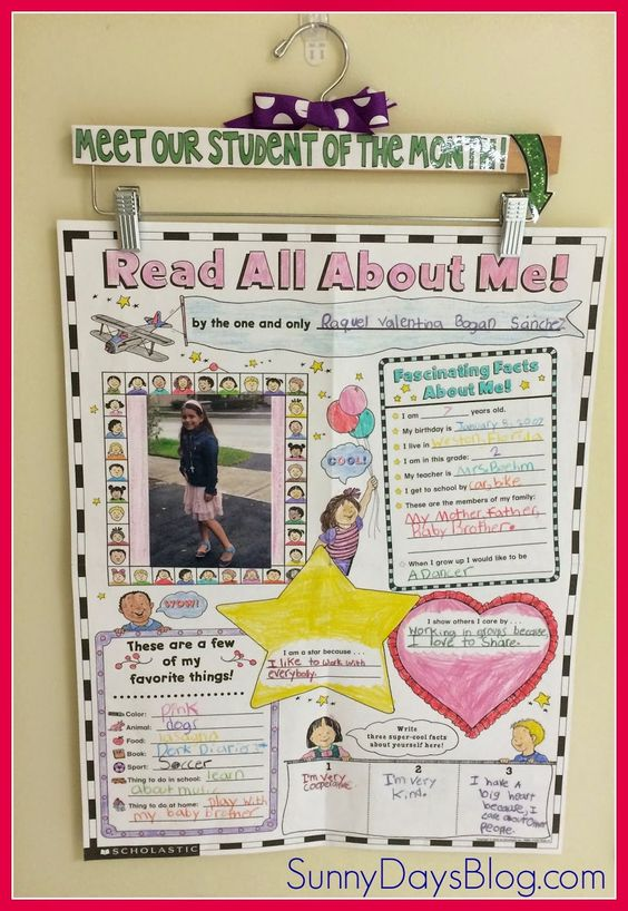 Super Student Display Idea. Decorate a hanger to hold posters, charts, student work.