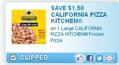 50 off any one large california pizza kitchen frozen pizza coupons