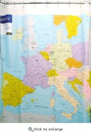 Eurail Shower Curtain - eclectic - shower curtains - Atypical Type A