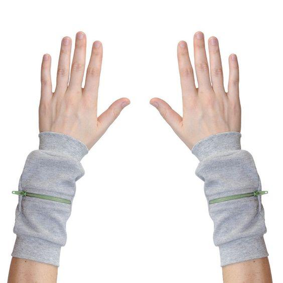 Wrist Zips - Wrist Wallet - Elephant Eating an Olive