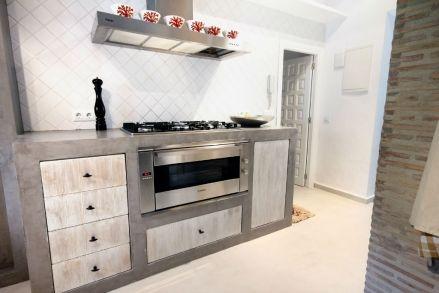 Cocinas con bajo mesada de obra en microcemento buscar con google decoracion pinterest - Microcemento en cocinas ...