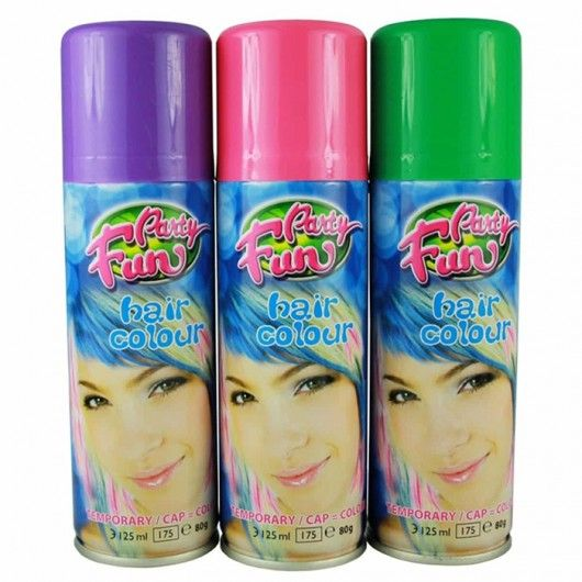 Party Fun Temporary Color Hair Spray Yellow 125ml With Images
