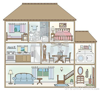 House cross section by artenz via dreamstime cross sections of houses pinterest building Draw your house