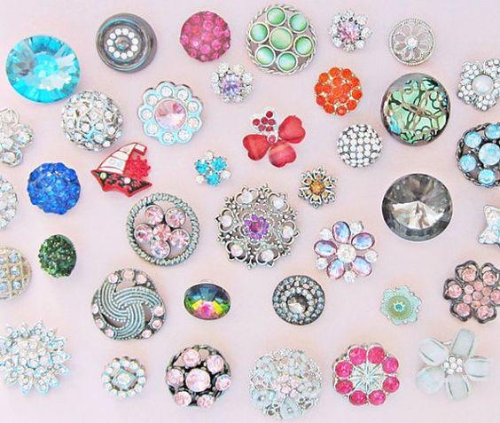 50 boutons de strass mix - superficie de vrac en gros boutons - boutons en métal émail nacré or strass argent - tige métallique boutons en vrac beaucoup