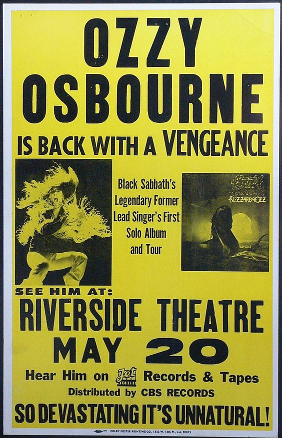 Vintage Concert Posters | ... style concert poster a scarce boxing style concert poster for a date