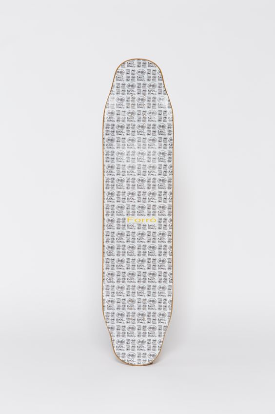 The top-view of our new Bastl Boards Forro with the big smile full-graphic. Progress your freestyle- and dancingskills with this beaauty. - 210€