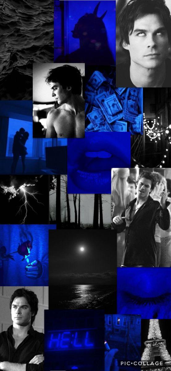 Damon Wallpaper Aesthetic Blue And Black Damon Salvatore Vampire Diaries Damon Vampire Diaries Wallpaper Vampire Diaries Guys vampire diaries damon vampire diaries