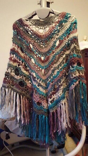 Virus shawl poncho crochet poncho Pinterest Ponchos and Shawl