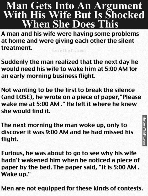 Man Gets Into An Argument With His Wife But Is Shocked When She Does This funny jokes story