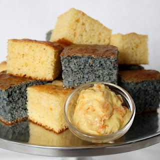 Blue Corn Bread with Orange Agave Butter
