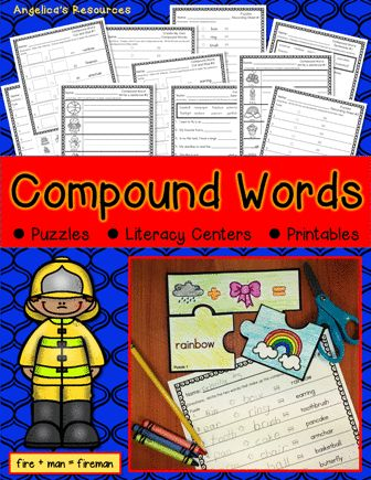This compound words resource will engage your students! It's filled with strong picture support and large print. Wonderful to use for literacy centers, morning work, and homework.