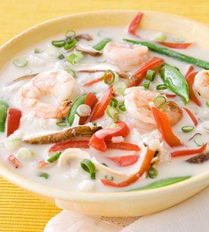 Thai Coconut Shrimp Soup:
