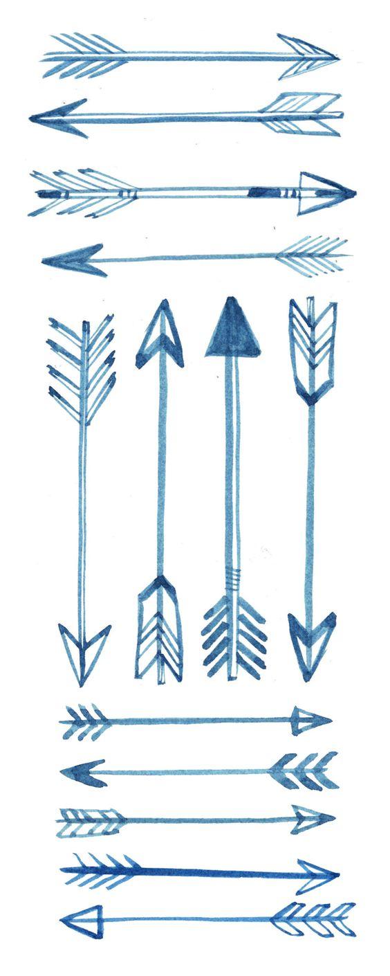Many different illustrations of arrows. (via thingsorganizedneatly.tumblr.com)