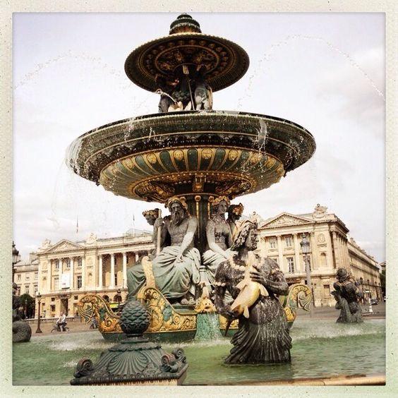 France! Fountain!