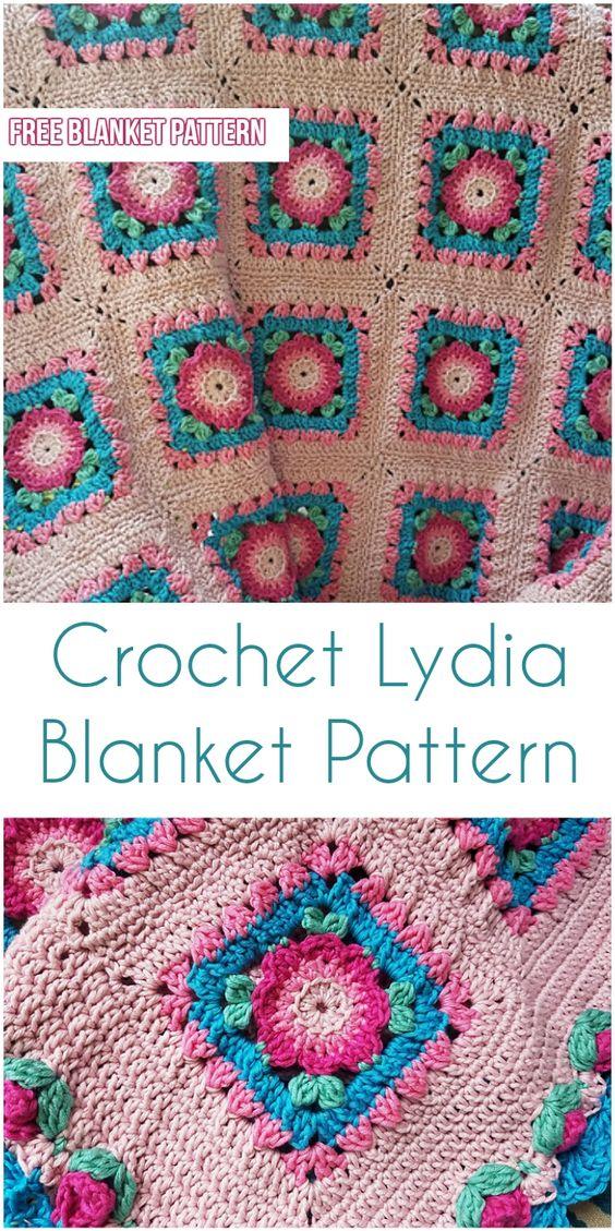 Crochet Lydia Blanket Pattern [Free Crochet Pattern]