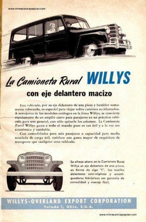 Willys la camioneta rural