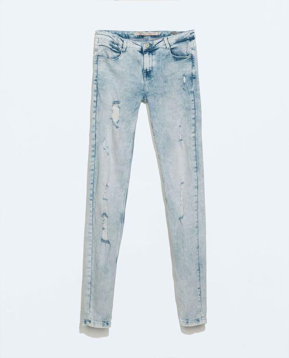 SKINNY JEANS - Jeans - TRF   ZARA United States