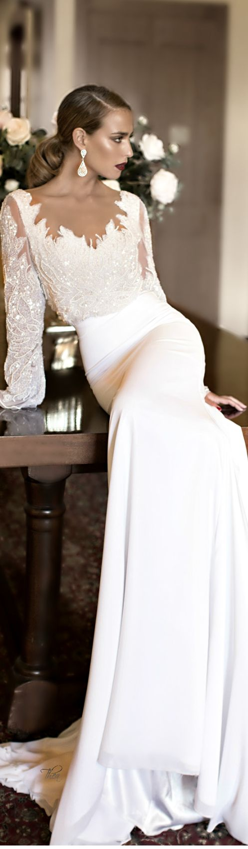 Casual wedding dresses for winter wedding  Stunning White Gown  If I ever get married  Pinterest