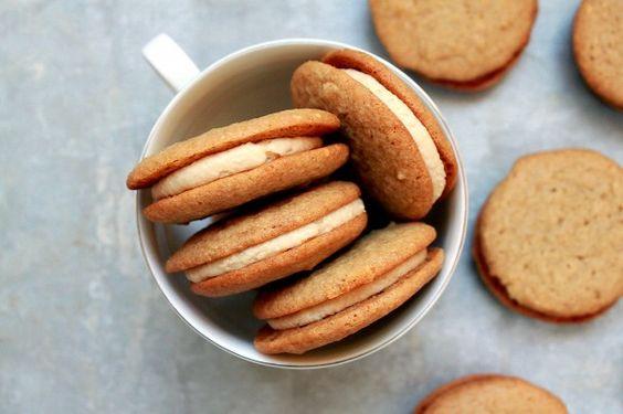 Malted Brown Sugar Cookie Sandwiches