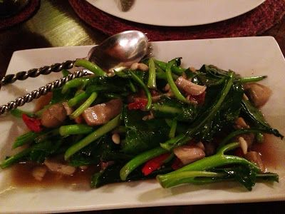 Greens & Mushrooms - Na Aroon - Bangkok - mostly veggie in a lovely setting |Living in Sin