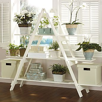 Ladder style shelving unit tutorial plant stand plans pinterest growing plants window and - Ladder plant stand plans free ...