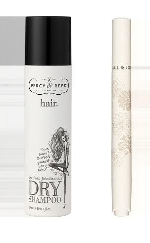 Fast beauty fixes for party season. Glossy Tip: Refresh your hair with the Percy & Reed No Fuss Fabulousness Dry Shampoo for that 'just washed look' and perfect your complexion with the Paul & Joe Illuminating Touch Pen for a fresh faced glow.