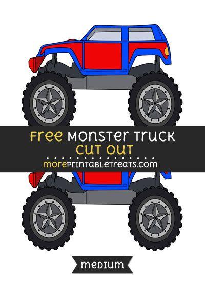 Monster Truck Printables : monster, truck, printables, Monster, Truck, Party, Printables