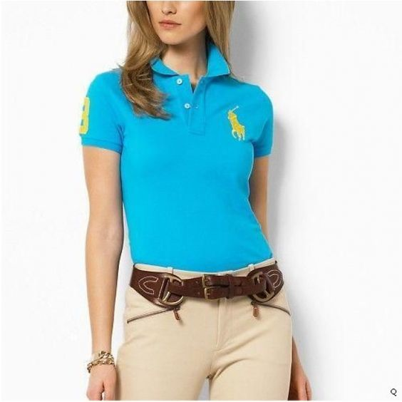 Ralph Lauren Womens Big Pony Polo Short T Shirts rl1450