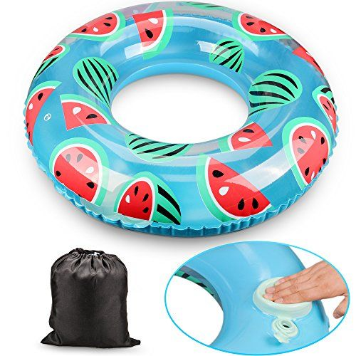 Inflatable Swim Ring Pool Float Very Cute Pool Ring Good Size Even For Teenagers To Use The Built In Pump Works Very Well Gr Swim Ring Swim Float Water Fun