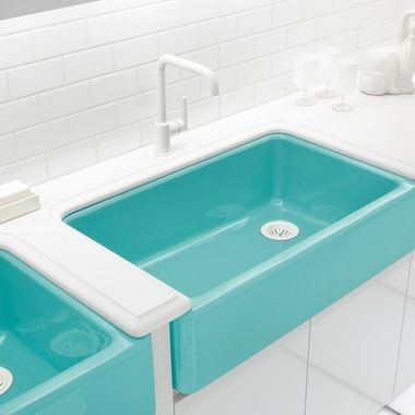 Blue Farmhouse Sink : tiffany blue farmhouse sink 10,952 Tiffany blue Bathroom Design ...