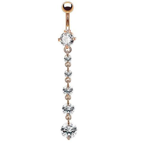Belly Button Rings Water Drop Dangle Piercing Navel Body Jewelry for Women Girls