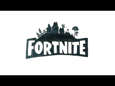 How To Draw The Fortnite Logo Drawings Fortnite Funny Drawings