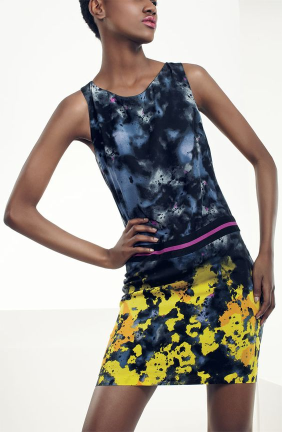 Suzi Chin for Maggy Boutique Print Silk Shift Dress #Nordstrom #AugustCatalog