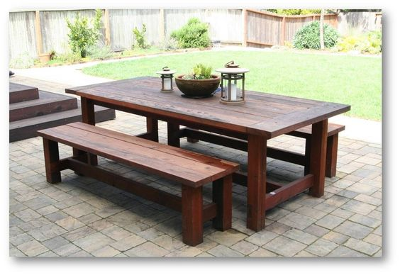 Large Farm Table Plans: Farmhouse Picnic Table Plan
