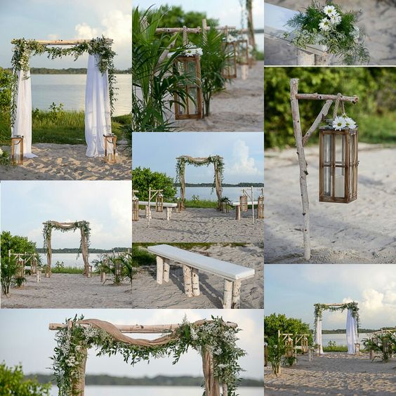 Rustic beach wedding decoration