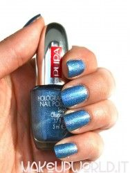 Pupa 034 Holographic Denim Blue #makeup #trucco #smalto #nail #nails #nailart #nailpolish #review #beauty #beautyblogger #nailmania