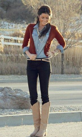 Denim Button Down....And this would be an outfit to try after baby weight is gone :)
