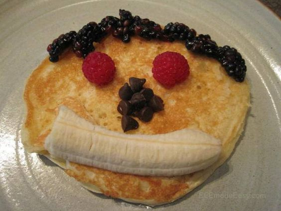 Pancake faces-- does anyone else remember the teddy bear pancakes at Perkins? I used to order them all the time.