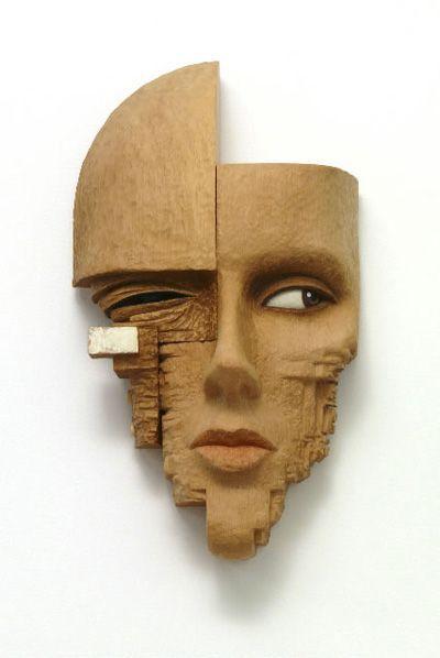 0  sculpture of a woman's face by John Morris