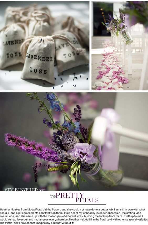 Lavender toss and aisle flowers