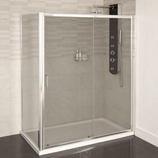 Aqualine 4mm 1400 X 760 Sliding Door Shower Enclosure Bathroom