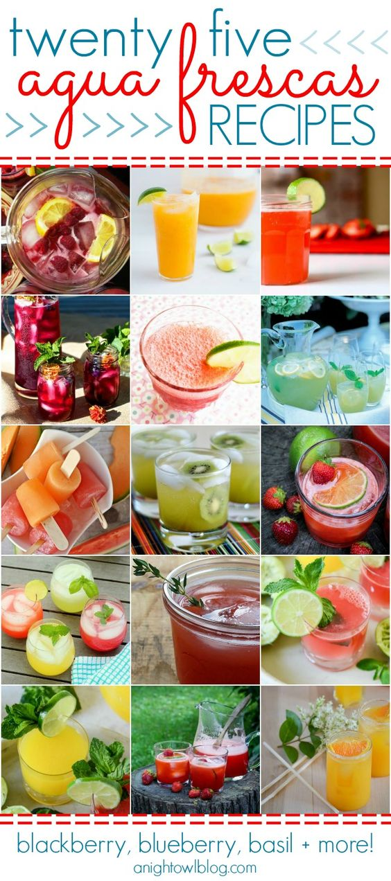 25 Agua Frescas Recipes - Blackberry, Blueberry, Basil and more!