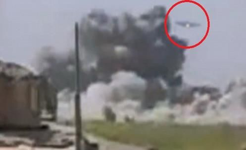 Secret Spaceship TR-3B of US filmed in combat in Afghanistan