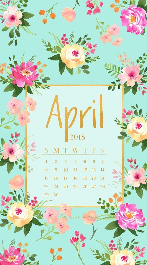 April Iphone Calendar Wallpaper Calendar Wallpaper Cute